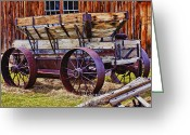 Ghost Town Greeting Cards - Old wagon Bodie ghost town Greeting Card by Garry Gay