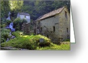 Mill Stone Greeting Cards - Old Watermill Greeting Card by Joana Kruse