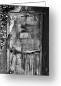 Drinking Water Greeting Cards - Old Waterworks Door  Greeting Card by Steven Ainsworth