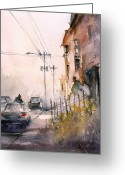 Impressionism Greeting Cards - Old Wautoma Hotel Greeting Card by Ryan Radke