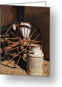Plowing Greeting Cards - Old Ways - Vintage Farm Equipment Greeting Card by Steven Milner