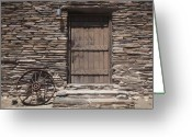 Brown Digital Art Greeting Cards - Old West Greeting Card by Kelley King