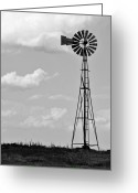 Prairie Sky Art Greeting Cards - Old Windmill II Greeting Card by Ricky Barnard