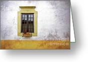 Peeling Greeting Cards - Old Window Greeting Card by Carlos Caetano