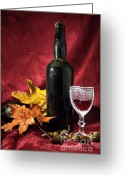 Exclusive Greeting Cards - Old Wine Bottle Greeting Card by Carlos Caetano