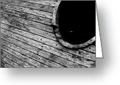Art Of Building Greeting Cards - Old Wooden Boat Greeting Card by Andy Prendy