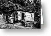St. Lucia Photographs Greeting Cards - Old Wooden Country House Greeting Card by Bill Mortley