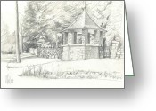 Happy Drawings Greeting Cards - Old World Charm Greeting Card by Kip DeVore