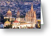 Architecture Greeting Cards - Old World Skyline Greeting Card by Jeremy Woodhouse