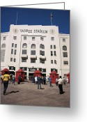 Ballparks Greeting Cards - Old Yankee Stadium Last Game Greeting Card by Paul Plaine