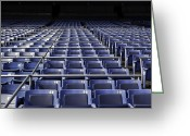 Ballparks Greeting Cards - Old Yankee Stadium Seating Greeting Card by Paul Plaine