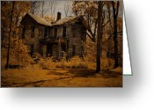 "\\\""haunted House\\\\\\\"" Greeting Cards - Olden Golden Greeting Card by Emily Stauring"
