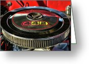 Ram Air Greeting Cards - Olds 442 Air Cleaner Greeting Card by Gordon Dean II