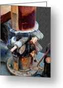 Lever Greeting Cards - OldTimePrecision Greeting Card by Robert Trauth