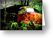 Dana Oliver Greeting Cards - Ole Cow Truck Greeting Card by Dana  Oliver