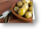 Greek Photo Greeting Cards - Olive bowl Greeting Card by Jane Rix