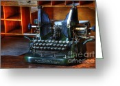 Historic Furniture Greeting Cards - Oliver Typewriter Greeting Card by Bob Christopher