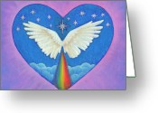 Angel Pastels Greeting Cards - Olivia Greeting Card by Lisa Kretchman