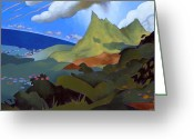 Greens Greeting Cards - Olomana Greeting Card by Douglas Simonson