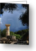 Olympia Greeting Cards - Olympia Greece 2 Greeting Card by Bob Christopher