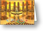 Olympia Greeting Cards - Olympia the City of Ancient and new Champions Greeting Card by H G Mielke