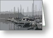 Percival Greeting Cards - Olympia...At Percival Landing I Greeting Card by Terri Thompson