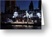 Archer Greeting Cards - Olympic Archer on Parliament Greeting Card by John Rizzuto