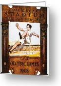 Edwardian Greeting Cards - Olympic Games, 1908 Greeting Card by Granger