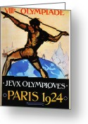 Throw Photo Greeting Cards - Olympic Games, 1924 Greeting Card by Granger