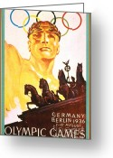 Games Painting Greeting Cards - Olympic Games  Greeting Card by Reproduction