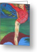 Gregory Allen Page Greeting Cards - Olympic gymnast Nastia Liukin  Greeting Card by Gregory Allen Page
