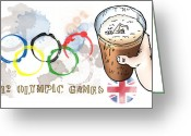 Brotherhood Digital Art Greeting Cards - Olympic Rings Greeting Card by Mark Armstrong