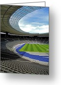 March Greeting Cards - Olympic Stadium - Berlin Greeting Card by Juergen Weiss