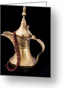 Spout Photo Greeting Cards - Omani Coffee Greeting Card by Tom Gowanlock