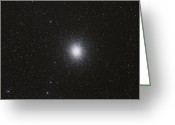 Star Clusters Greeting Cards - Omega Centauri Globular Star Cluster Greeting Card by Philip Hart
