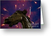 Neigh Greeting Cards - OMG The Sky Is Falling Greeting Card by Al Bourassa