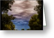 Sky Greeting Cards - Ominous Sky #instagram #clouds #sky Greeting Card by Adam Romanowicz