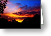 Clayton Photo Greeting Cards - Ominous Sunset Greeting Card by Clayton Bruster