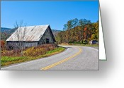 Rural Road Greeting Cards - On a Roll in West Virginia 2 Greeting Card by Steve Harrington