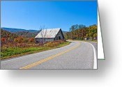 Rural Road Greeting Cards - On a Roll in West Virginia Greeting Card by Steve Harrington