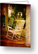 Rocking Chairs Greeting Cards - On a Sunday Afternoon Greeting Card by Susanne Van Hulst