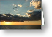 Caribbean Sea Greeting Cards - On a Warm Evening Greeting Card by Laurie Search