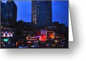 Nashville Greeting Cards - On Broadway in Nashville Greeting Card by Susanne Van Hulst