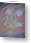 Mark Schutter Greeting Cards - On Eagles Wings Greeting Card by Mark Schutter