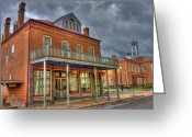 Barks Greeting Cards - On Fourth Street Greeting Card by William Fields