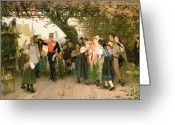 Villagers Greeting Cards - On Leave Greeting Card by Wilhelm Zimmer