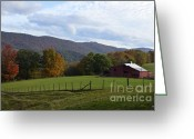 West Virginia Highlands Greeting Cards - On Sully Road Greeting Card by Randy Bodkins