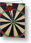 Throw Photo Greeting Cards - On Target Bullseye Greeting Card by Garry Gay