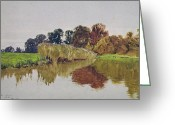 Cole Painting Greeting Cards - On the Arun Stoke Sussex  Greeting Card by George Vicat Cole