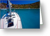 Virgin Islands Greeting Cards - On the Bow Greeting Card by Adam Romanowicz
